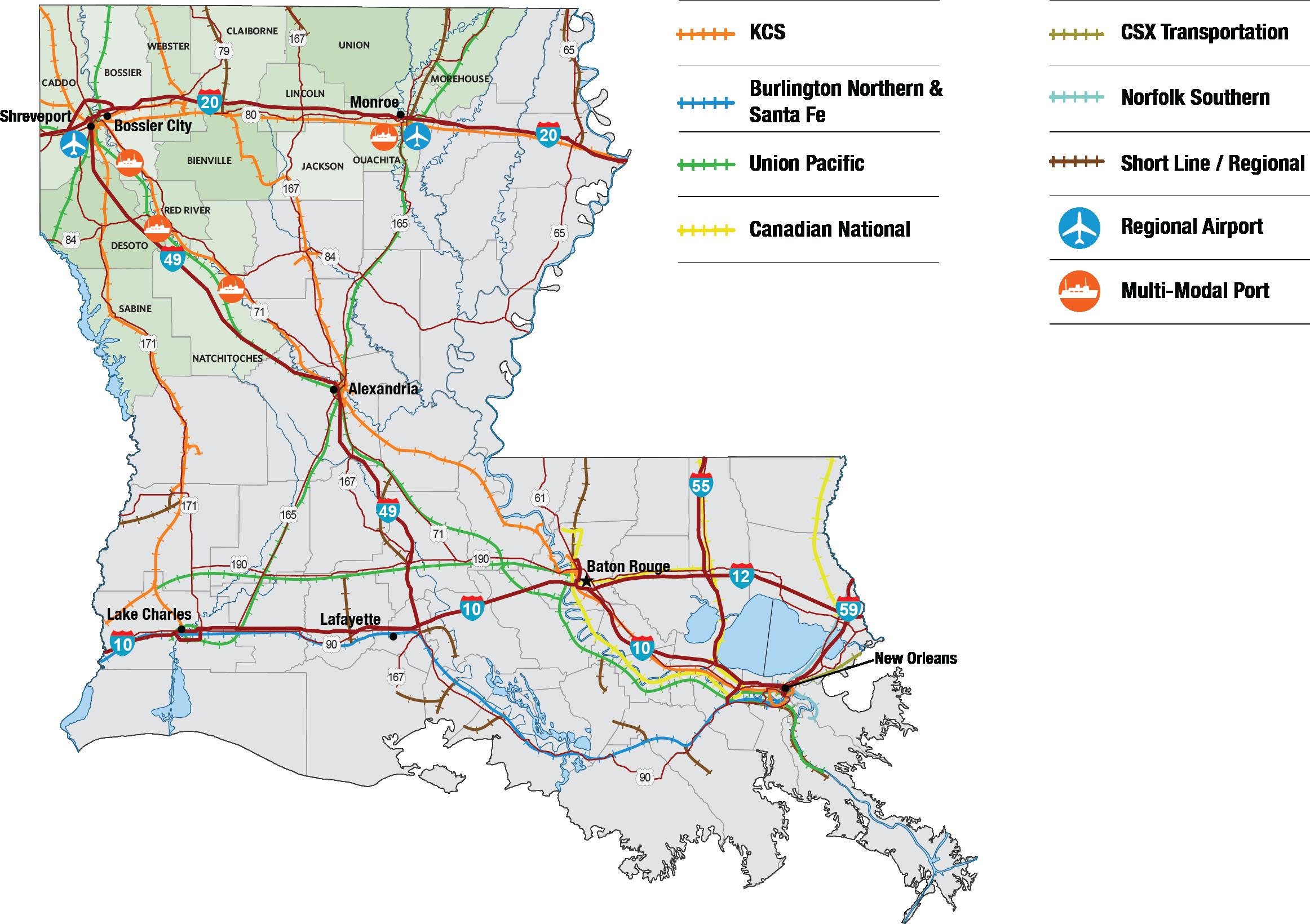 NLEP North Louisiana Competitive Advantages