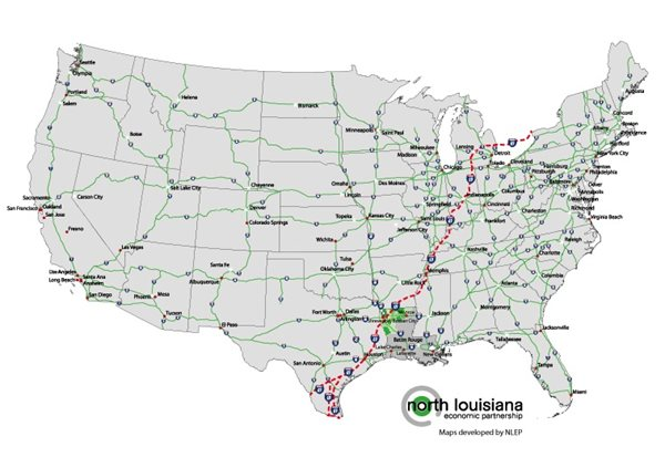 I69 Arkansas Map.Nlep North Louisiana Competitive Advantages